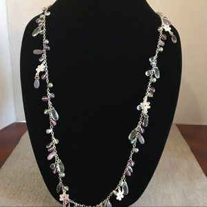 Anthropologie Lydell NYC crystal necklace